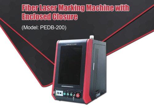 Perfect Laser-Full Enclosed Cabinet Fiber Laser Marking Machine PEDB-200