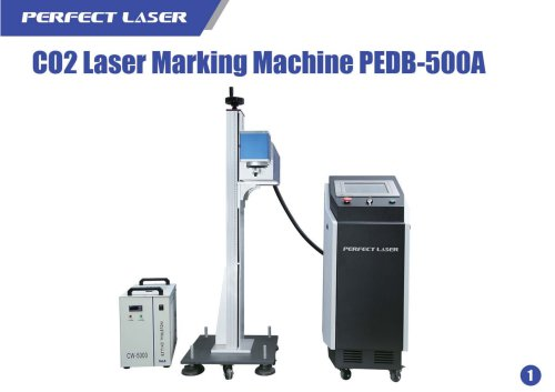 Perfect Laser online flying co2 laser marking machine PEDB-500A