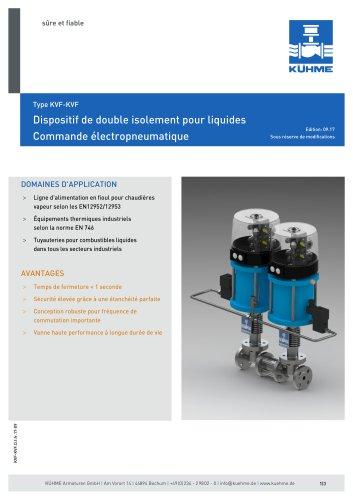 Dispositif de double isolement pour liquides - Type KVF-KVF (DIN)