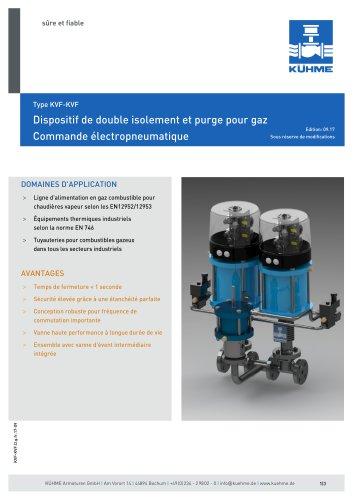 Dispositif de double isolement et purge pour gaz - Type KVF-KVF (DIN)
