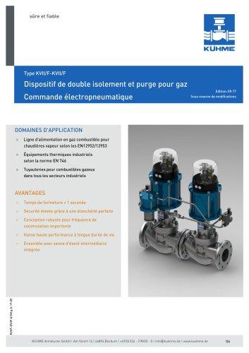 Dispositif de double isolement et purge pour gaz - Type KVII/F-KVII/F (ANSI 150lbs.)