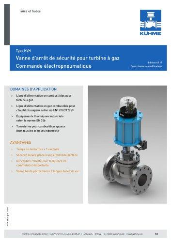 Vanne d'arrêt de sécurité pour turbine à gaz - Type KVH (ANSI 300lbs.)