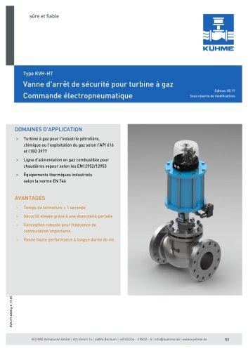 Vanne d'arrêt de sécurité pour turbine à gaz - Type KVH/HT (ANSI 300lbs.)