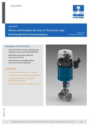 Vanne automatique de mise à l'évent pour gaz - Type KVF/O (DIN)