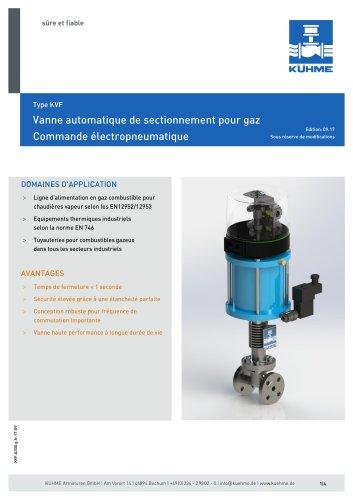 Vanne automatique de sectionnement pour gaz - Type KVF (ANSI 300lbs.)