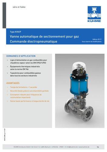 Vanne automatique de sectionnement pour gaz - Type KVII/F (ANSI 300lbs.)