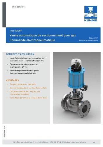 Vanne automatique de sectionnement pour gaz - Type KVII/HF (DIN)