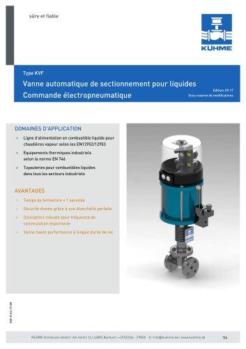 Vanne automatique de sectionnement pour liquides - Type KVF (DIN)