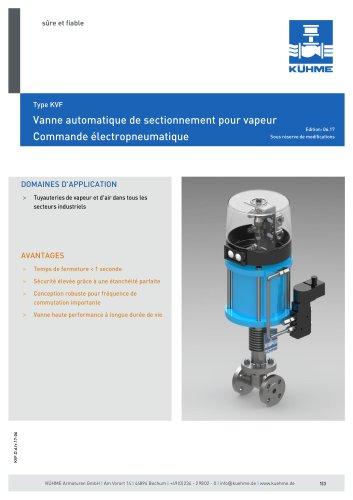 Vanne automatique de sectionnement pour vapeur - Type KVF (DIN)