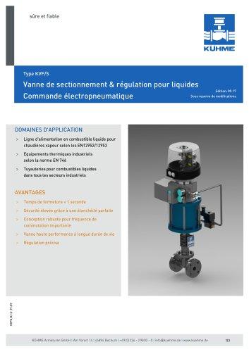 Vanne de sectionnement & régulation pour liquides - Type KVF/S (DIN)