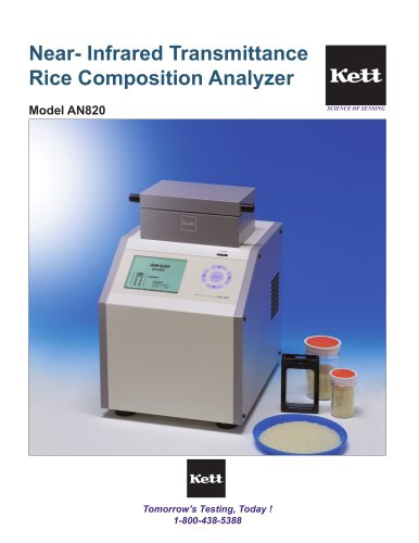 AN820 Advanced Rice Composition Analyzer