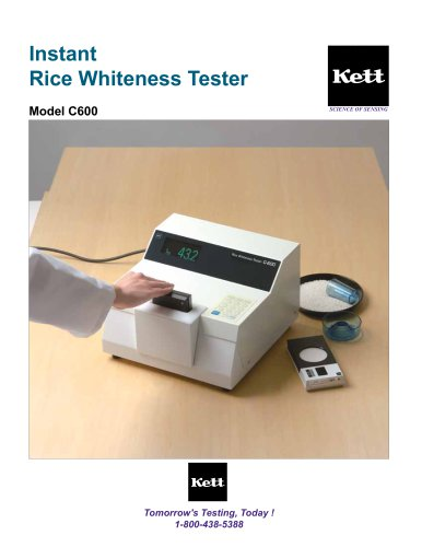 C600 Advanced Rice Whiteness Meter