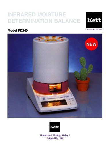 FD240 Infrared Moisture Determination Balance