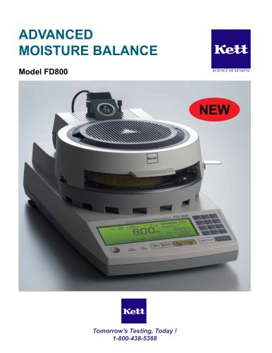 FD800 Advanced Moisture Balance