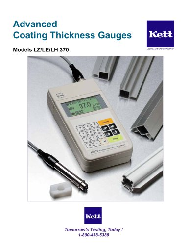 LZ/LE/LH 370 Advanced Coating Thickness Gauges