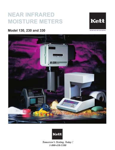 Model 130, 230, 330 Near-Infrared Moisture Meters