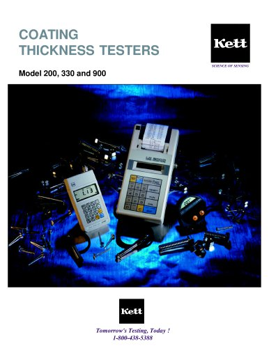 Model 200, 330, 900 Coating Thickness Testers