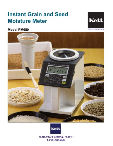 PM650 Advanced Portable Grain and Seed Moisture Meter