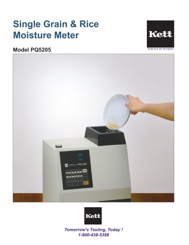 PQ5205 Single Kernel Rice Moisture Tester
