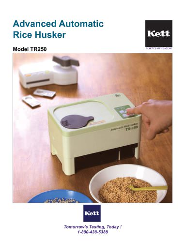 TR250 Portable Electric Rice Husker - Advanced