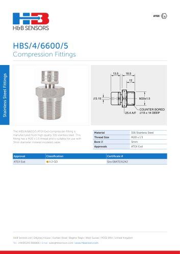 Stainless Steel Fittings HBS-4-6600-5