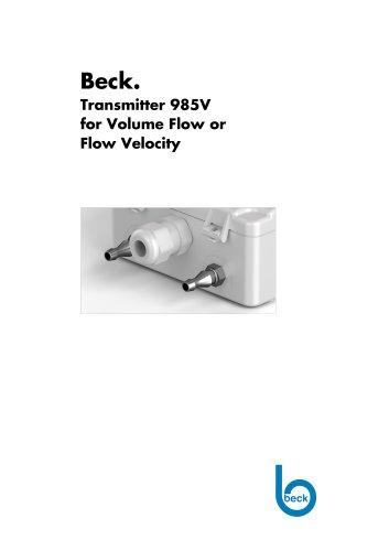 Volume Flow Transmitter 985V