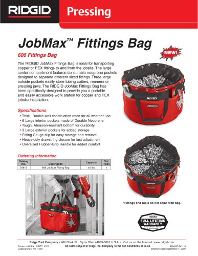 JOBMAX FITTINGS BAG
