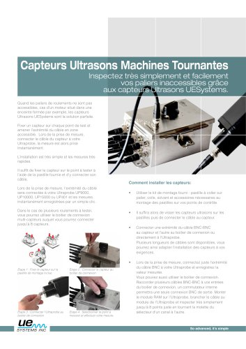 Capteurs Ultrasons Machines Tournantes