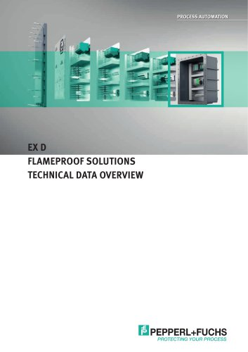 Product Overview 'Technical Data Overview Ex d Flameproof Solutions'