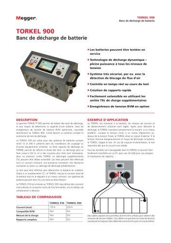 Banc de décharge de batterie   TORKEL 900