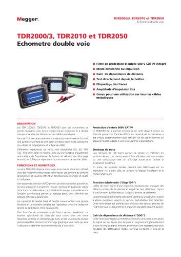 Echometre double voie   TDR2000/3, TDR2010 et TDR2050