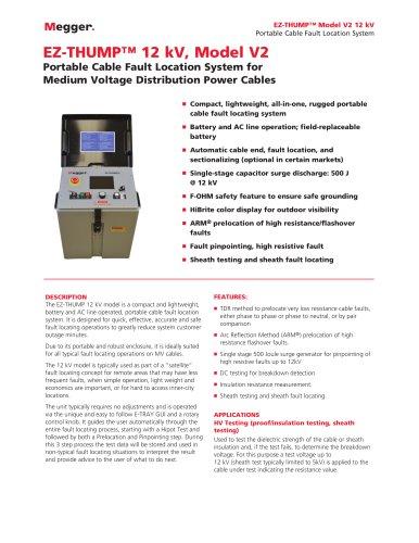 EZ-THUMP™ 12 kV, Model V2