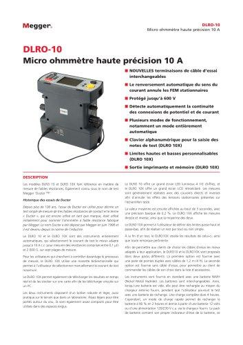 MICRO-OHMMÈTRE 10 A   DLRO10