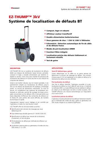 SYSTÈME DE LOCALISATION DE DÉFAUTS BT   EZ-THUMP 3 kV