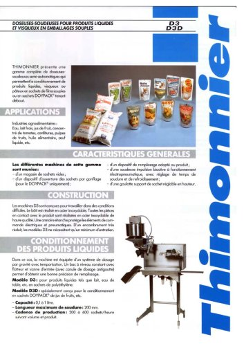 D3D Soudeuse semi-automatique pour fermeture de sachet