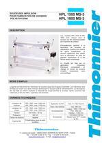 HPL 1500/1800 - Soudeuse manuelle