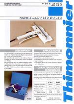P20/P40 - Pinces à souder