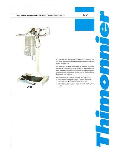UV 45-65-80-110 - Soudeuses montées sur colonne verticale