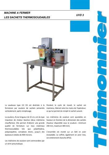 UVD3 inox - Soudeuse semi-automatique pour fermeture de sachet