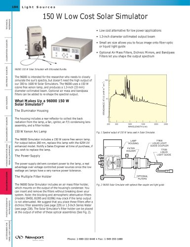 150 W Low Cost Solar Simulator