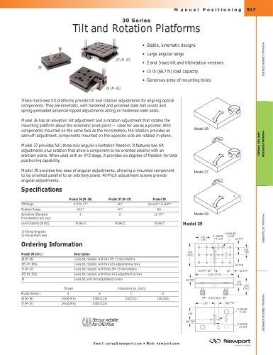 30 Series Multi-Axis Tilt Platforms