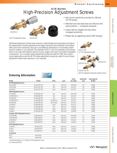 AJS Series High-Precision Adjustment Screws