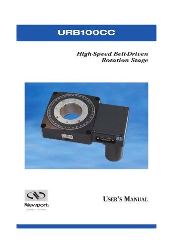 Belt Drive Rotation Stage, 360°, DC Servo Motor