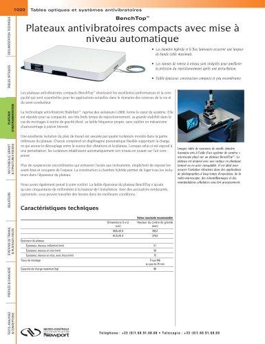 BenchTop™ Plateaux antivibratoires compacts avec mise à niveau automatique