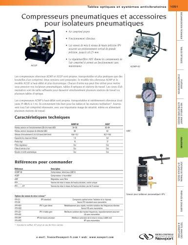 Compresseurs pneumatiques et accessoires pour isolateurs pneumatiques