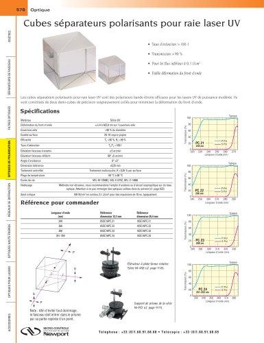 Cubes séparateurs polarisants pour raie laser UV