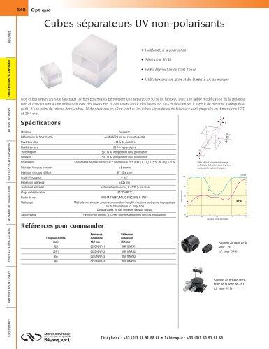 Cubes séparateurs UV non-polarisants