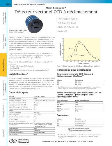 Détecteur vectoriel CCD à déclenchement Oriel Linespec™