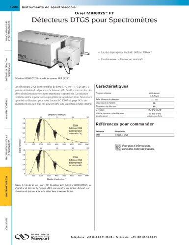 Détecteurs DTGS pour Spectromètres Oriel MIR8025™ FT