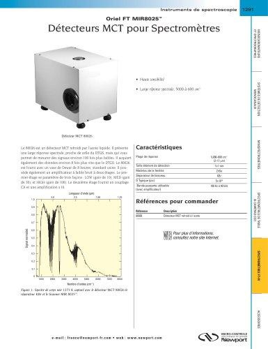 Détecteurs MCT pour Spectromètres Oriel FT MIR8025™